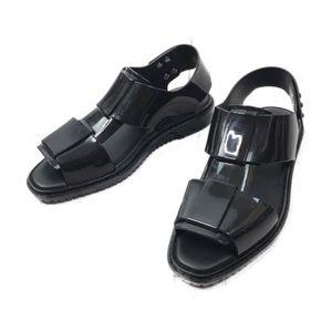 Melissa Black Jelly Huarache Flat Sandals Sz 7